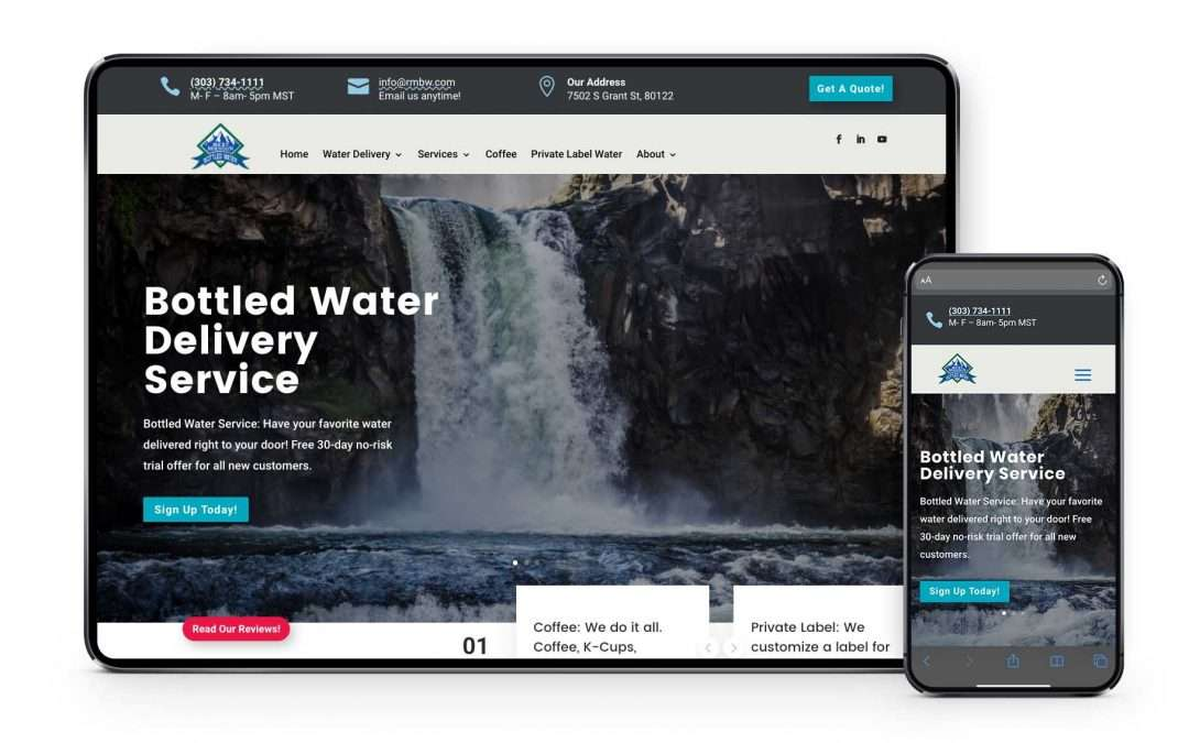 Colorado Water Service Provider Launches State of the Art New Website