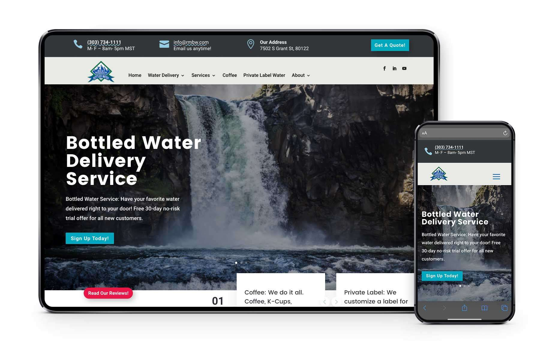 Colorado Bottled Water Delivery Website Launch